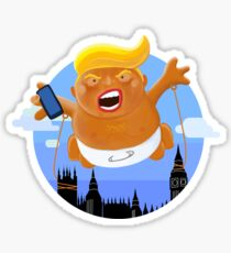 Trump Big Graphic Inflatable Baby Blimp Balloon Sticker