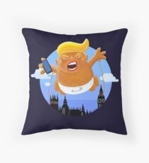 Trump Big Graphic Inflatable Baby Blimp Balloon Throw Pillow