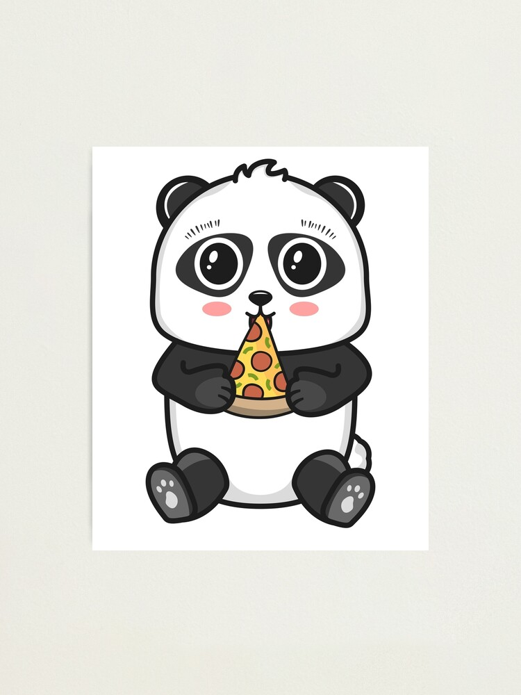 Creamy Beige Scarf with Black /& White Giant Panda Print