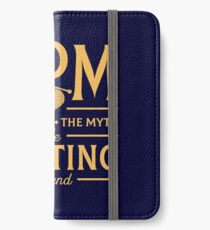 Mom The Woman The Myth The Knitting Legend iPhone Wallet/Case/Skin