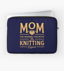 Mom The Woman The Myth The Knitting Legend Laptop Sleeve