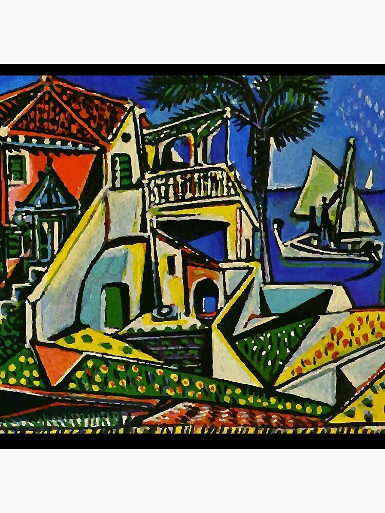 Pablo Picasso Mediterranean Landscape 1952 T Shirt, Artwork by clothorama