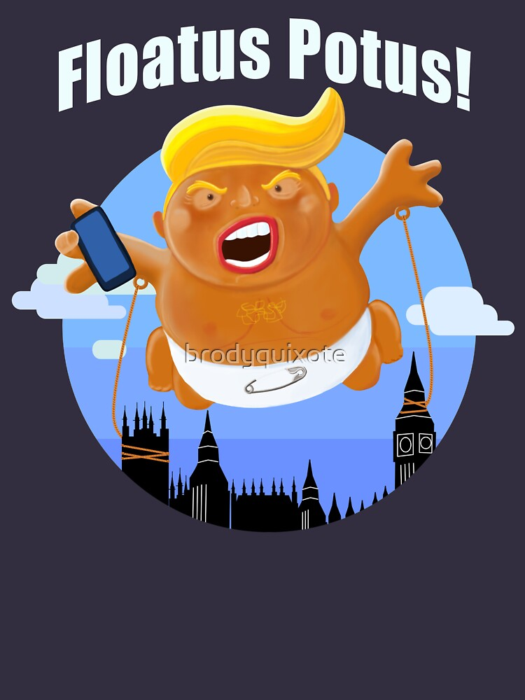 Trump Inflatable Baby Blimp Potus England Visit 2019  by brodyquixote