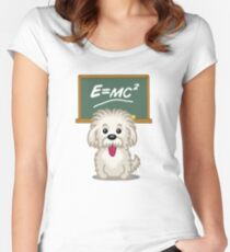 Shihtzu Shitzu Einstein dog tshirt - Dog Gifts for Shihtzu and Maltese Dog Lovers Women's Fitted Scoop T-Shirt