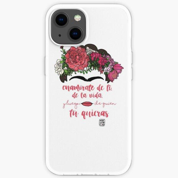 Tomber en amour avec vous-même, avec la vie et après qui vous voulez Coque souple iPhone