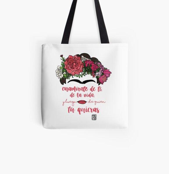 Tomber en amour avec vous-même, avec la vie et après qui vous voulez Tote bag doublé