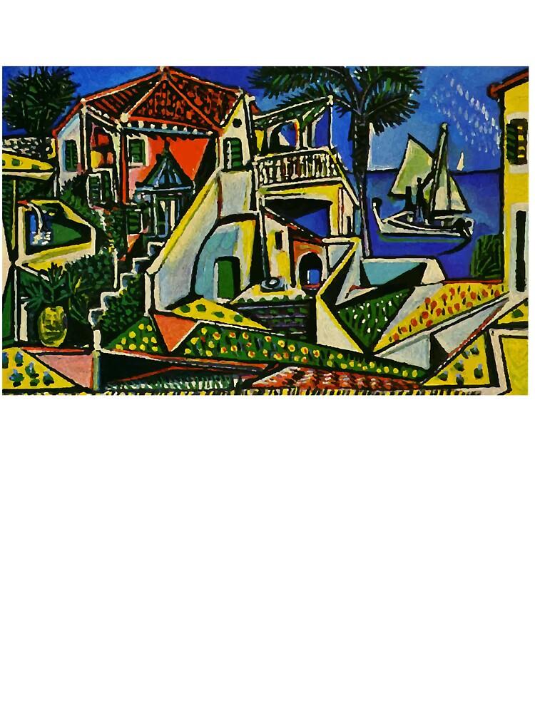 Pablo Picasso Mediterranean Landscape 1952 T Shirt Artwork Kids T Shirt By Clothorama Redbubble