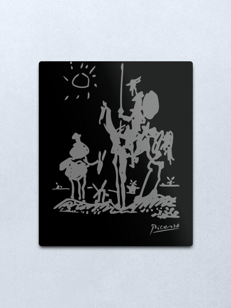Alternate view of Pablo Picasso Don Quixote 1955 Artwork Shirt, Reproduction Metal Print