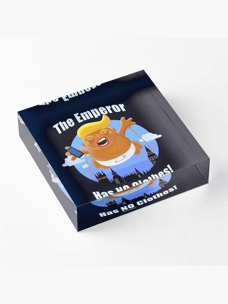 Alternate view of Trump Inflatable Baby Emperor Blimp Floating England Scotland Acrylic Block