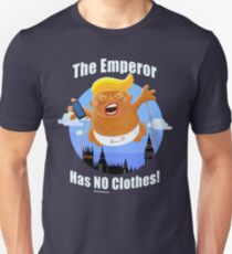 Trump Inflatable Baby Emperor Blimp Floating England Scotland Unisex T-Shirt