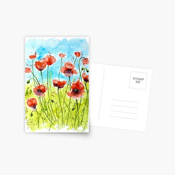 Meadow Poppies Postcard