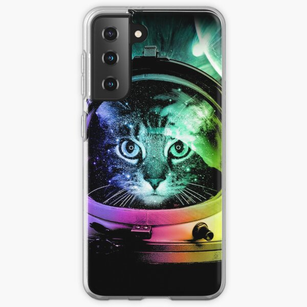 Astronaut Cat V.II Samsung Galaxy Soft Case