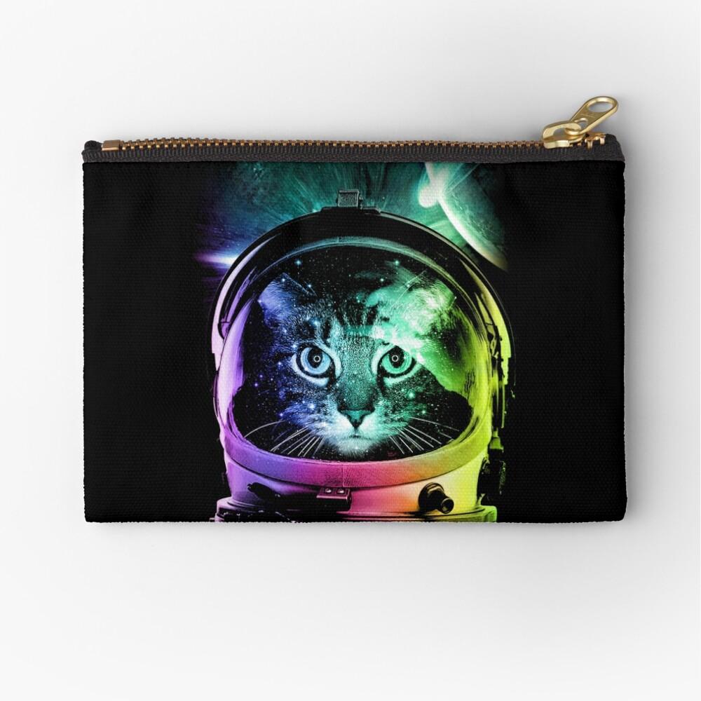 Astronaut Cat V.II Zipper Pouch