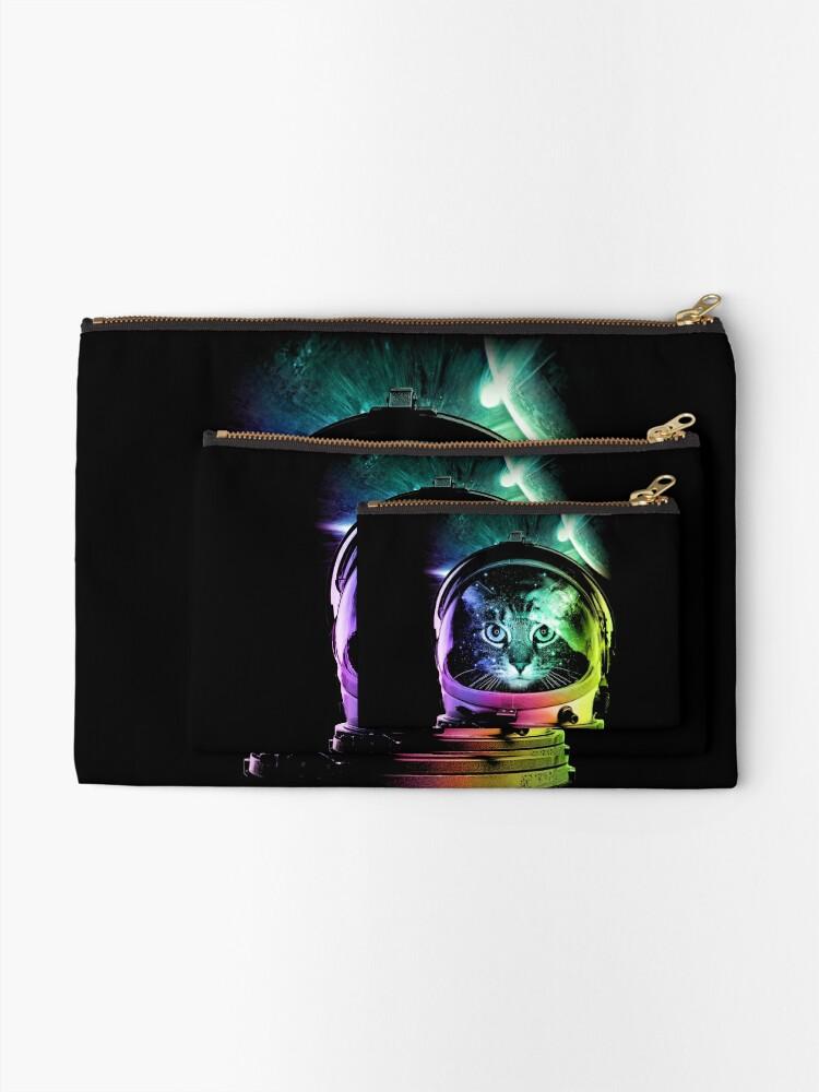 Alternate view of Astronaut Cat V.II Zipper Pouch
