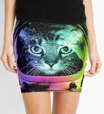 Astronaut Cat V.II Mini Skirt