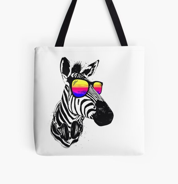 Cooles Zebra Allover-Print Tote Bag