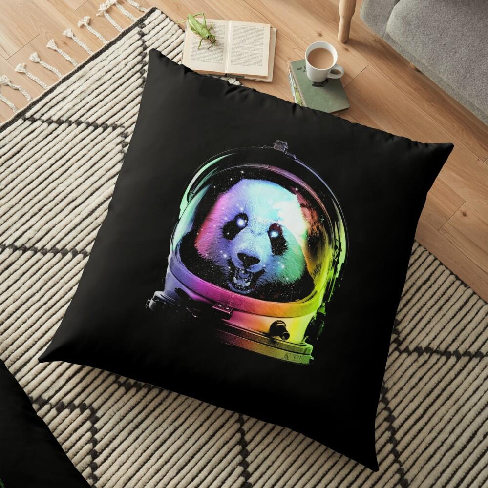 Astronaut Panda Floor Pillow