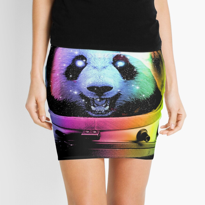 Astronaut Panda Mini Skirt