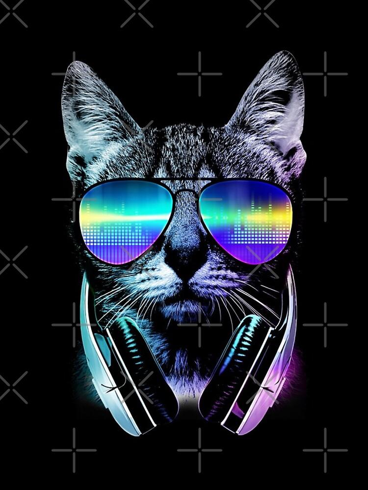 Musikliebhaber Katze von clingcling