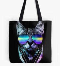 Music Lover Cat Tote Bag