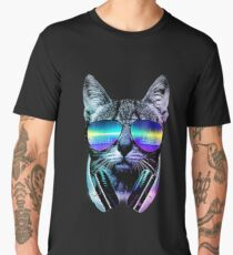 Music Lover Cat Men's Premium T-Shirt