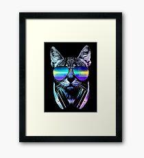 Music Lover Cat Framed Print