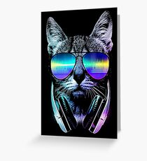 Music Lover Cat Greeting Card