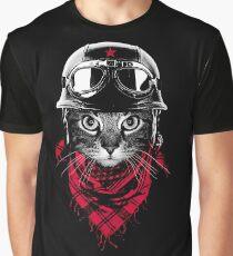 Abenteurer Katze Grafik T-Shirt