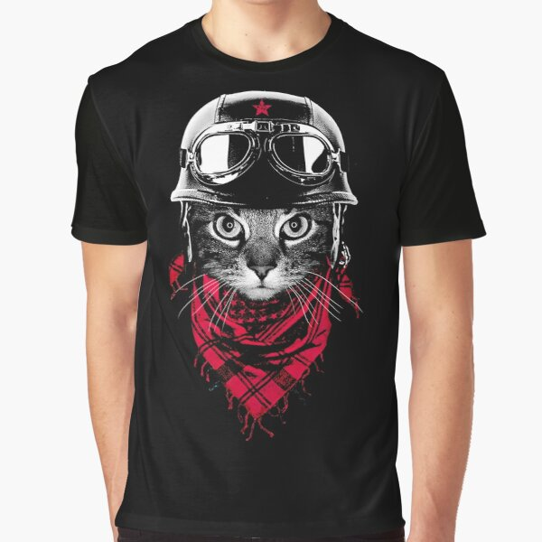 Adventurer Cat Graphic T-Shirt