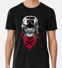 Abenteurer Katze Premium T-Shirt