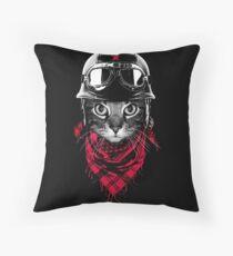 Adventurer Cat Throw Pillow