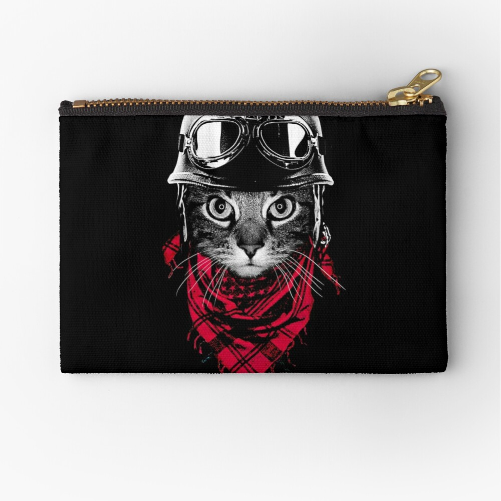 Adventurer Cat Zipper Pouch