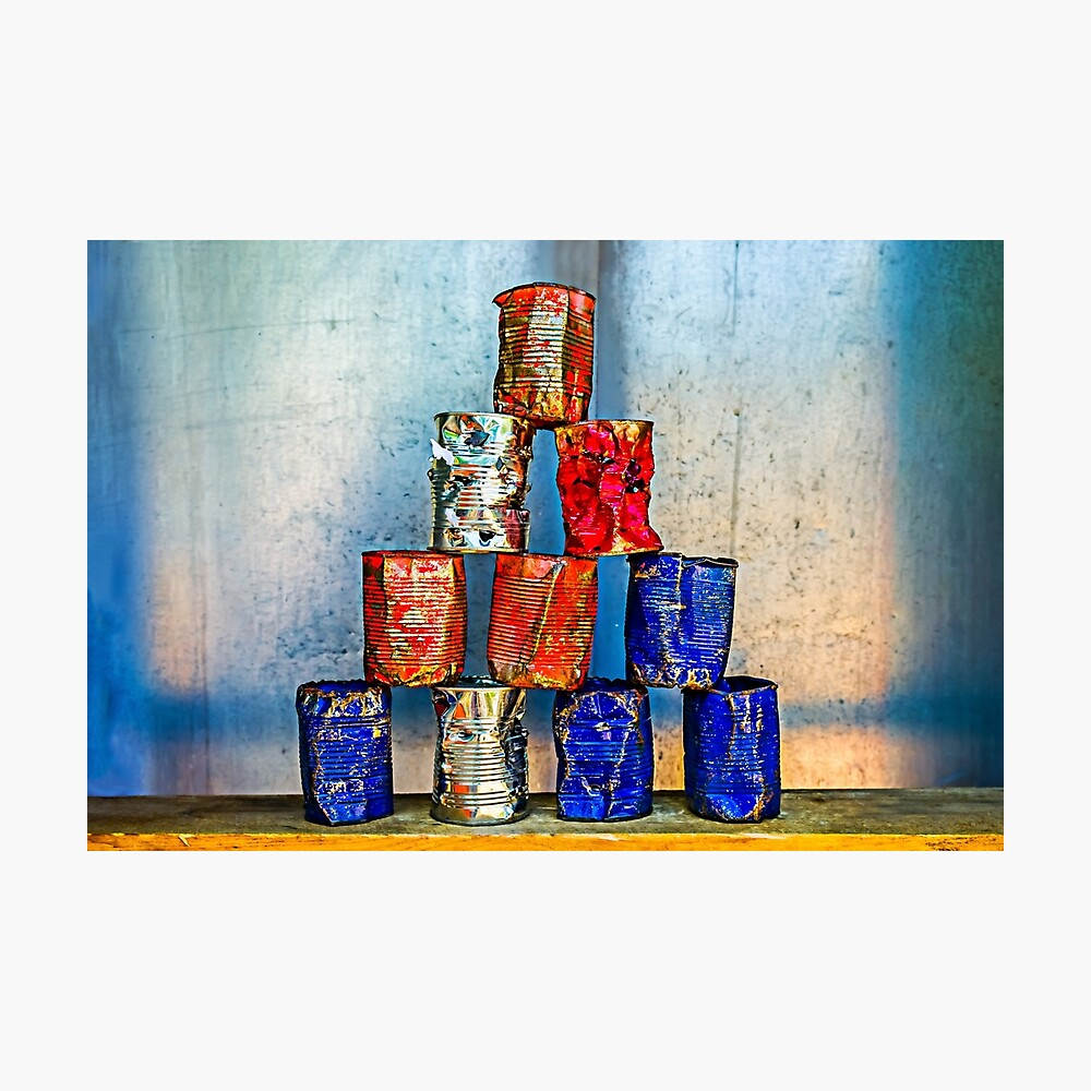 Abstract pyramid Wall decor - Soup Cans - After The Lunch Print