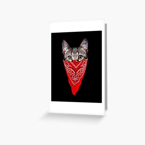 Gangster Cat Greeting Card