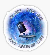 Dr Who Star Trek Race Through Time 2 Sticker