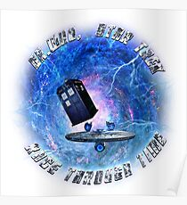Dr Who Star Trek Race Through Time 2 Poster