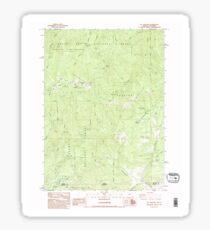 USGS Topo Map Oregon Mt Ashland 280849 1983 24000 Sticker