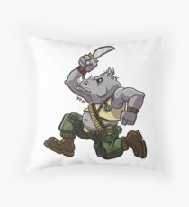 Rocksteady Throw Pillow