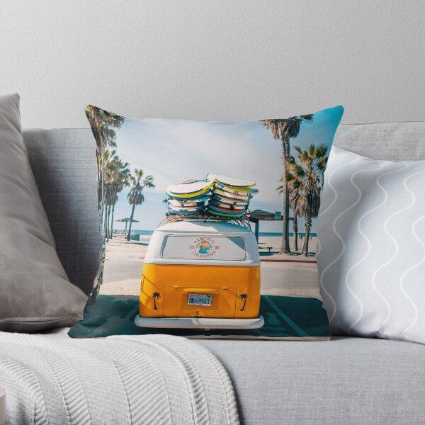 Combi van surf Throw Pillow