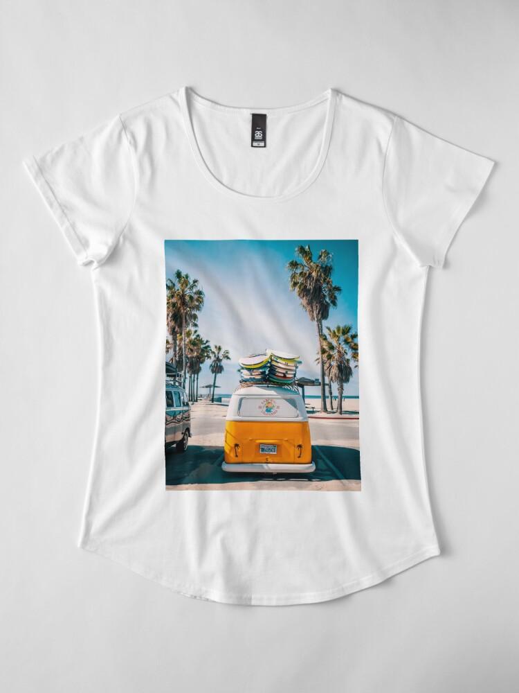 Alternate view of Combi van surf Premium Scoop T-Shirt