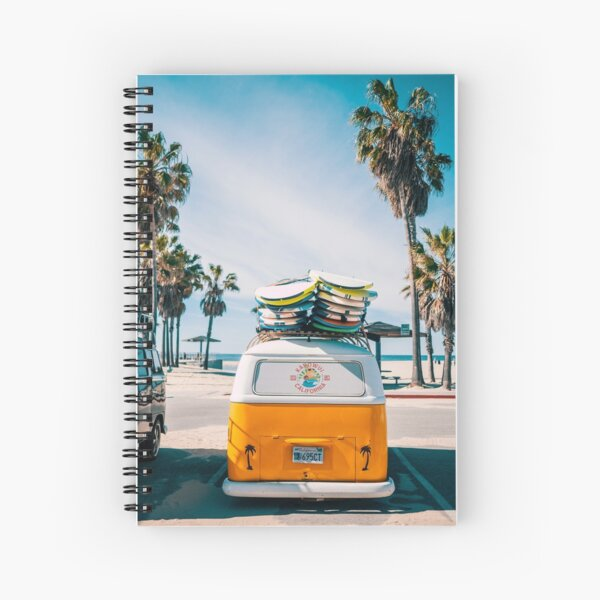 Combi van surf Spiral Notebook