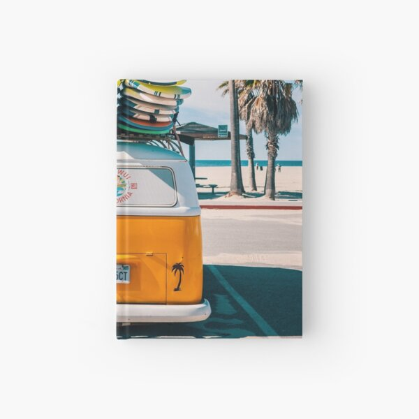 Combi van surf Hardcover Journal