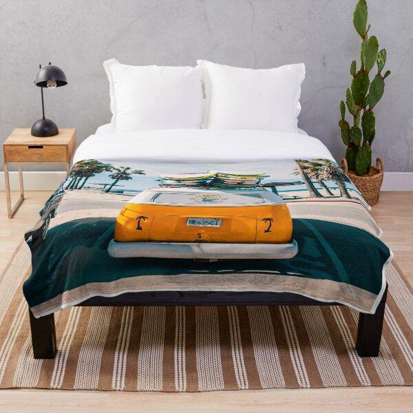 Combi van surf Throw Blanket