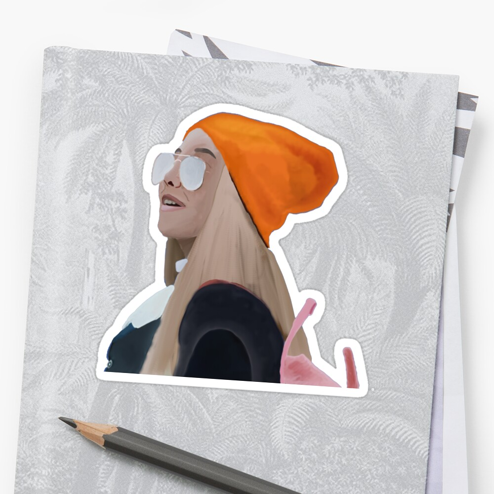 Quot Emma Chamberlain Quot Sticker By Viccantdraw Redbubble
