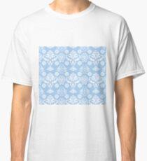 Blue and White Damask Pattern Classic T-Shirt