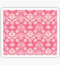 Red and White Damask Sticker