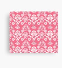 Red and White Damask Canvas Print