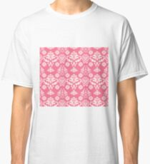 Red and White Damask Classic T-Shirt