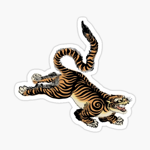 Japanese Sumatra Tiger  Sticker