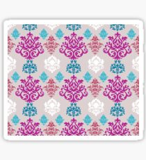 Multicoloured Damask Sticker